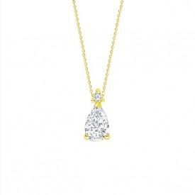 colgante oro diamante talla perilla