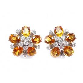 pendientes diamantes y piedras preciosas