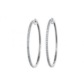 pendientes de aro diamantes