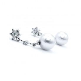 pendientes perlas diamantes largos