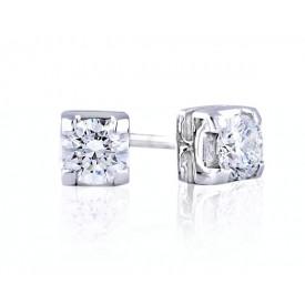pendientes diamantes sencillos
