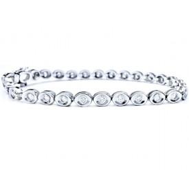pulsera con diamantes moderna
