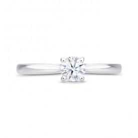 """Anillo """"Harmony S"""" Oro Blanco con Diamante central talla brillante"""