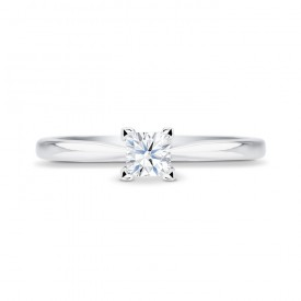 "Solitario ""Surya S"" con diamante central talla princesa"