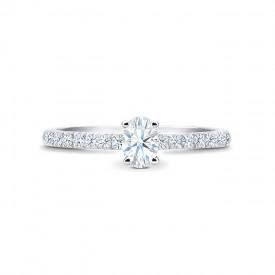 "Sortija ""CairoStyle"" oro blanco y diamantes"