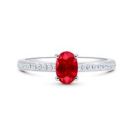 Sortija Rubi Diamantes RED CHANDRA - SRC 28 RUBI