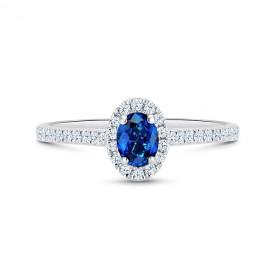 sortija de zafiro con orla de diamantes Orléans SRC 87