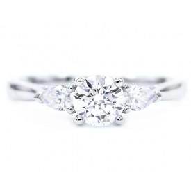 Anillo Compromiso 3 diamantes - MASADA