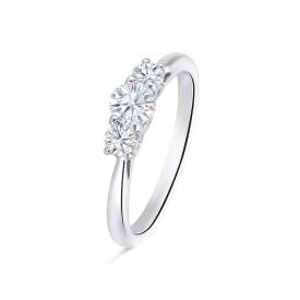 "Tresillo ""Tetuán"" oro blanco 18k y diamantes"