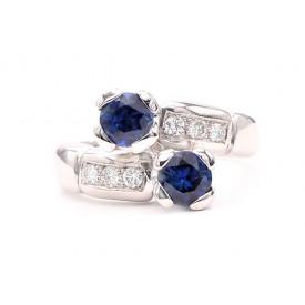 anillo zafiro tu y yo