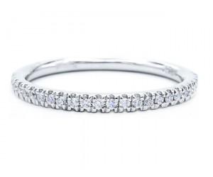 alianzas de platino diamantes