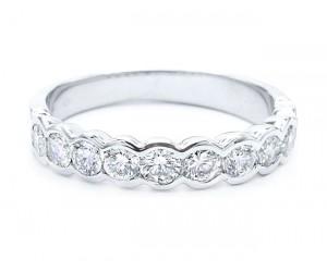 alianza de diamantes oro blanco