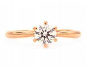 anillos de compromiso oro rosa