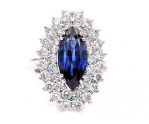 anillos zafiro y diamantes
