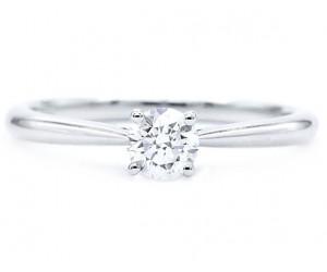 anillo solitario compromiso