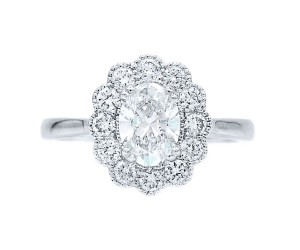 anillos de diamante oval
