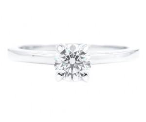 anillo diamante solitario oro blanco