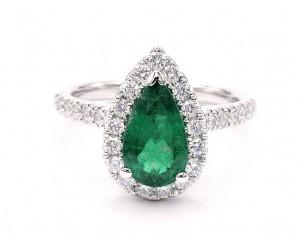 anillo esmeralda perilla