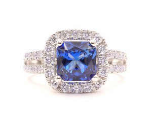 anillos de zafiro y diamante