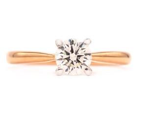 Anillo Diamante Oro Rosa - VERONA