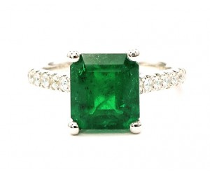 anillos de esmeraldas colombianas