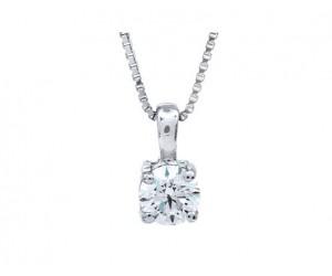 colgante diamante oro blanco