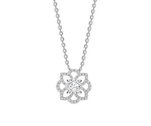 colgante diamante flor