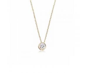 colgante oro amarillo diamante
