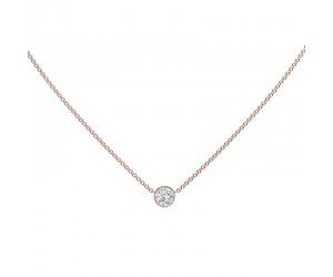 collar diamante oro rosa