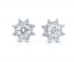 pendientes orla diamantes
