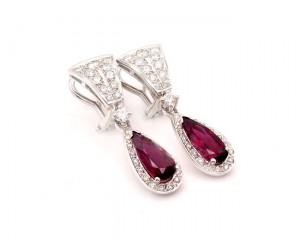 pendientes turmalina y diamantes