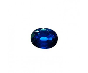 zafiro azul intenso dos quilates