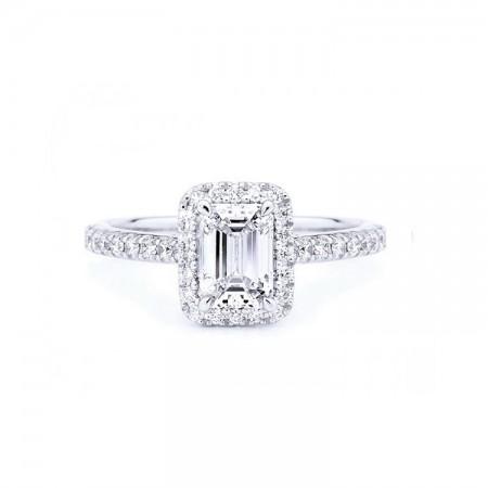anillo compromiso con diamantes EMERALDCUT