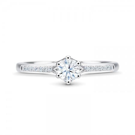 anillo con diamante central SIDNEY SR 6