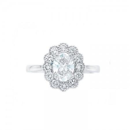 anillo con diamante oval OSAKA SRC 5