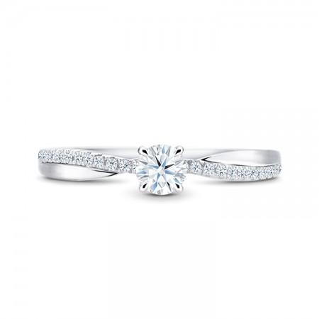 anillo de oro blanco diamante - NASHIRA SR 63
