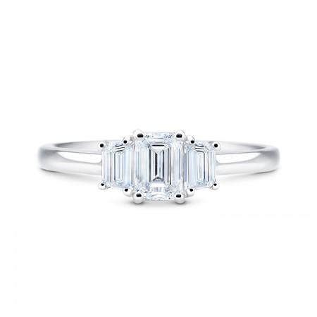 anillo diamante talla esmeralda oro blanco elegance SRC23