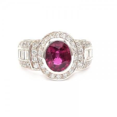 anillo rubi diamantes