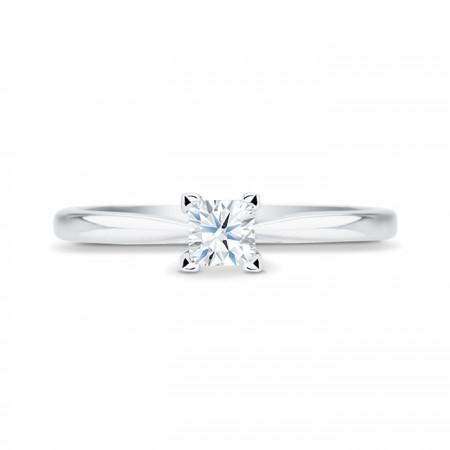 Anillo Platino Diamante Princesa
