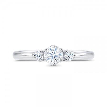 anillo tres diamantes SHALOSH SC 250