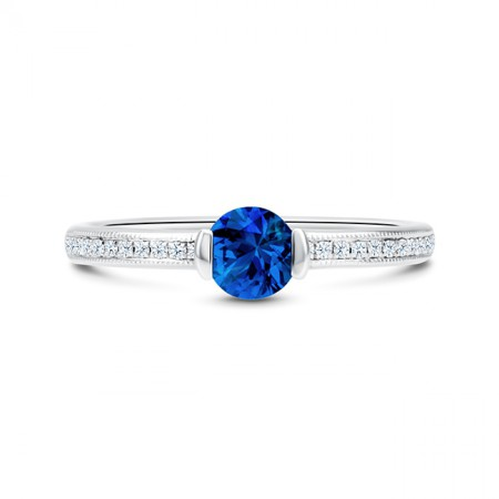 Anillo con Zafiro Azul y brillantes BLUE MOON