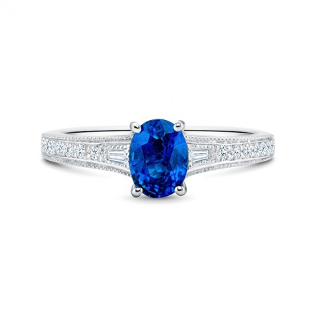 Anillo zafiro y diamantes BLUE LADY BIRD SRC 30