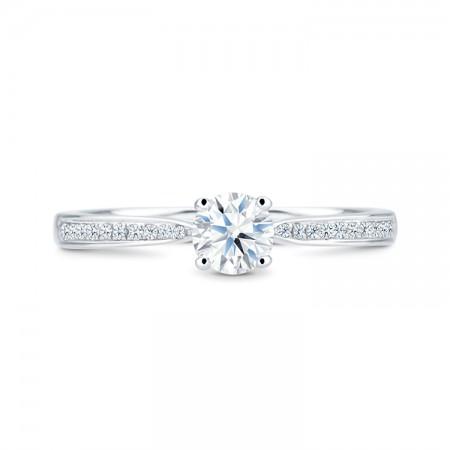 anillos brillantes oro blanco BOSTON SR23