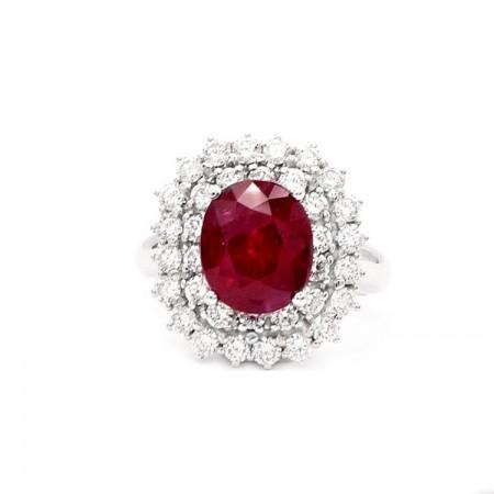 anillos de rubi pedida