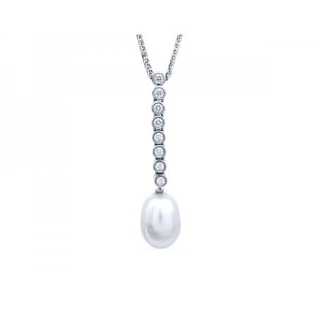 colgantes perlas