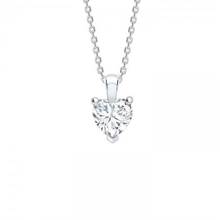 colgante diamante corazón