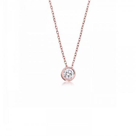 colgante oro rosa diamante