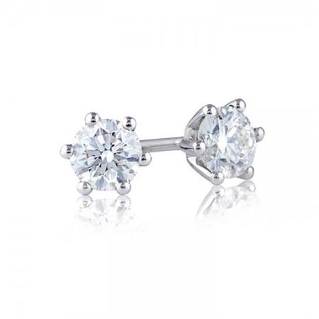 pendientes diamantes clásicos