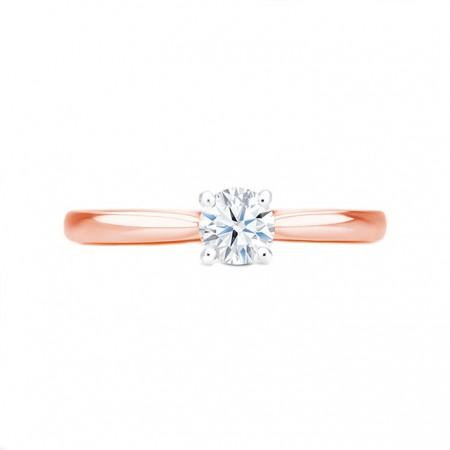 anillo oro rosa solitario harmony