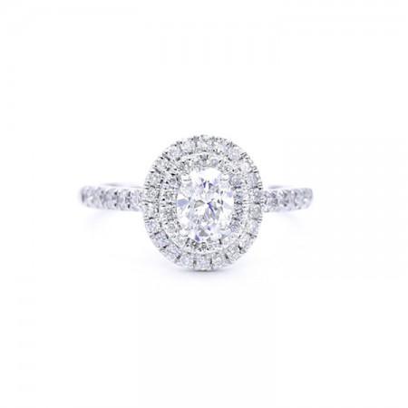 anillo diamante oval Bilbao